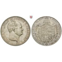 Brandenburg-Preussen, Königreich Preussen, Friedrich Wilhelm IV., Vereinsdoppeltaler 1854, f.vz/vz+: Friedrich Wilhelm IV.… #coins