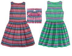 NWT Ralph Lauren Polo Girls Poplin Striped Cut Out Back Sleeveless Dress 12 #RalphLauren #ChristmasDressyEverydayHolidayPageantPartyPromWedding