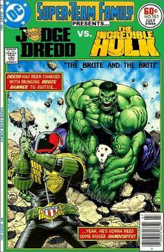 Judge Dredd vs Hulk Interesting! Never seen this before.
