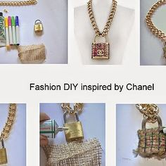How to create a Fashion DIY necklace inspired by CHANEL!