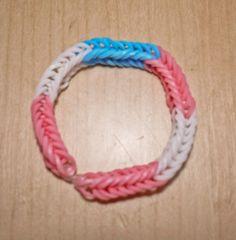 Intersex Pride Flag Loom Bracelet (Block) from AeronMadeThis on Etsy