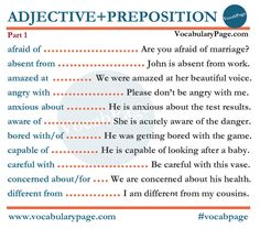 Adjective + Preposition (part1) #english www.vocabularypage.com