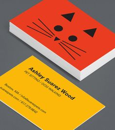 Pet business cards design google search business cards pet print strikingly expressive with very few lines these business cards show that pet reheart Images