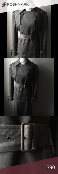 Unisex Christian Dior Monsieur Trench Coat Sz 40R Vintage Unisex Christian Dior Monsieur Trench Coat Size. 40R. Gorgeous vintage Double breasted Trench Coat with shoulder pads and complete Wool lining. 33% Wool, 60% polyester, 5% other fibers. Measurements are 47 inches top to bottom (length of Coat). 23 1/2 inch sleeve, and 22 1/2 inches pit to pit. Great condition w/ minor signs of wear. Christian Dior Jackets & Coats Trench Coats