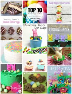 Top 10 Easter Themed Desserts - Crafty Mama in ME! - Top 10 Easter Themed Desserts – Crafty Mama in ME! Easter Craft Ideas for Your Vintage Life Kate - Easter Activities, Easter Crafts For Kids, Craft Activities For Kids, Craft Ideas, Spring Activities, Play Ideas, Family Activities, Pinata Cupcakes, Easter Cupcakes