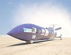 Australian crew bid to break the land speed record by unveiling the first parts of their rocket-powered bullet car.