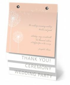 Just Dandy Wedding Program Flip Book