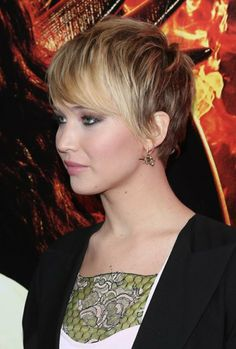 side and back of Jennifer Lawrence Hair