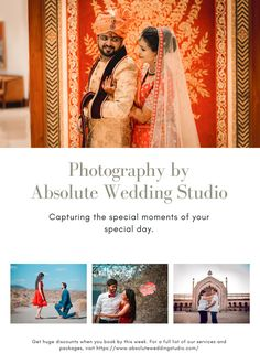 Absolute Wedding Studio is the Best Wedding Photographer in Lucknow. We offer cinematic video, destination, pre-wedding studio & Candid Wedding Photographer in Gomtinagar Lucknow. Professional Wedding Photography, Best Wedding Photographers, Destination Wedding Photographer, Bridal Shoot, Wedding Shoot, Candid Photography, Engagement Photography, Award Winning Photography, Wedding Photography Packages
