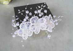 Bridal hair comb, Wedding Hair Comb, Bridal headpiece, Bridal hair accessories, wedding headpiece,Vintage style,pearl hiar comb,hair flower