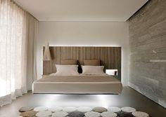 schlafzimmer ideen einrichten hell grau wand deko paneele, Hause deko
