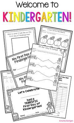 Beginning of the Year Activities for Kindergarten