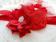 Red Headband/Baby Headbands/Baby Headbands and Bows/Infant Headbands/Baby Girl…