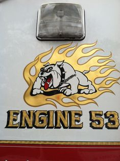 The Mack that goes with the dog house. Budd Lake Fire Dept. Eng 53