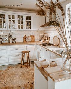 Kitchen Room Design, Home Decor Kitchen, Interior Design Kitchen, Country Kitchen, New Kitchen, Home Kitchens, Boho Kitchen, Kitchen Ideas, Neutral Kitchen Designs