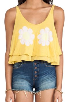 Sunflowers printing short vest