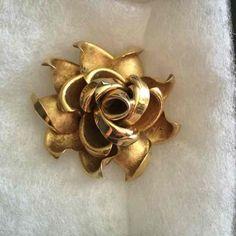 Vintage Gold Tone Rose Brooch - Mercari: Anyone can buy & sell