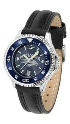 Nevada Wolf Pack NCAA Womens Leather Anochrome Watch by SunTime. $79.95. Showcase the hottest design in watches today! A functional rotating bezel is color-coordinated to compliment your favorite team logo. A durable long-lasting combination nylon/leather strap together with a date calendar round out this best-selling timepiece.The AnoChrome dial option increases the visual impact of any watch with a stunning radial reflection similar to that of the underside of a CD. P...