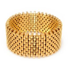 Alice Menter - Isla Gold Cuff (910 BRL) ❤ liked on Polyvore featuring jewelry, bracelets, gold jewelry, polish jewelry, polishing gold jewelry, gold jewellery and braid jewelry