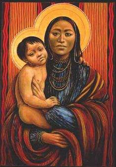 Native American baby Jesus