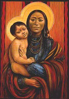 Native American baby Jesus
