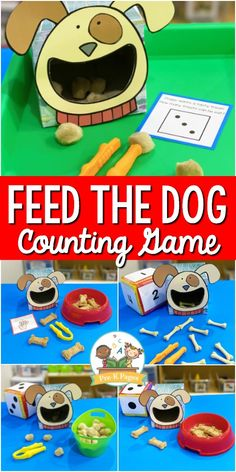This fun, hands-on feed the dog counting activity is perfect for teaching number sense and counting skills in your preschool or Pre-K classroom! Counting Activities, Senses Activities, Preschool Learning Activities, Toddler Activities, Preschool Activities, Leadership Activities, Educational Leadership, Group Activities, Number Activities For Preschoolers