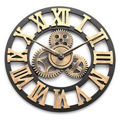 Silver Wall Clock, Wall Clocks, Optical Microscope, Ocean Canvas, Metal Dining Table, Thing 1, Clock Decor, Love Wall, Vintage Iron