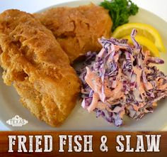 Fried fish and slaw recipe... mmm...