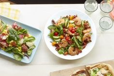 Shrimp Salad with Crispy Chorizo and Almonds