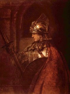 REMBRANDT Harmenszoon van Rijn Online, A Man in Armour, Oil Paintings Only For Art Lovers! This is a non-profits site and shows all the paintings of REMBRANDT Harmenszoon van Rijn's art works. Monet, Canvas Art Prints, Fine Art Prints, List Of Paintings, Amedeo Modigliani, Baroque Art, Dutch Golden Age, Dutch Painters, Alexander The Great