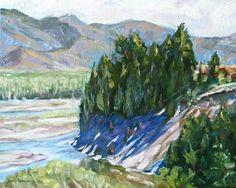 Large original oil painting landscape canvas by JaniceTraneJones