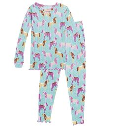 Cotton Ruffle Long Pajamas - Horse in Collection Accessories
