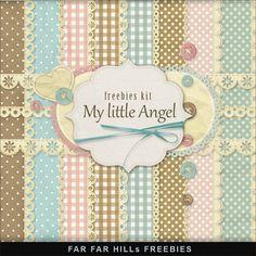 Kit digital My little Angel freebies