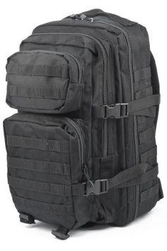 6b1c2942f798 Mil-Tec Military Army Patrol MOLLE Assault Pack Tactical Combat Rucksack  Backpack Bag 36L Black