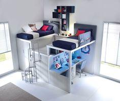 Muebles juveniles de diseño para dormitorios pequeños