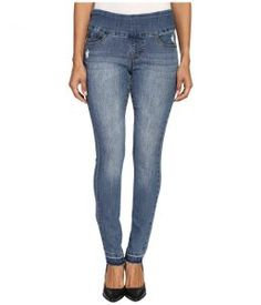 Jag Jeans Petite Petite Nora Pull-On Skinny in Comfort Denim in Weathered Blue (Weathered Blue) Women's Jeans