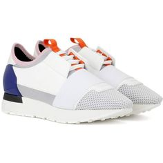 Balenciaga Race Runner Sneakers (880 AUD) ❤ liked on Polyvore featuring shoes, sneakers, multicoloured, balenciaga, balenciaga trainers, balenciaga shoes, balenciaga sneakers and multi colored sneakers