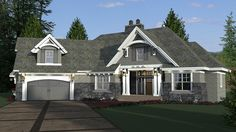 House Plan 42679 | Bungalow Cottage Craftsman French Country Tudor Plan with 2341 Sq. Ft., 4 Bedrooms, 3 Bathrooms, 2 Ca