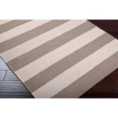 @Overstock.com - Hand-woven Gray Wool Nikolay Rug (5' x 8') - Hand-woven in wool, this rug features vibrant colors of brindle, taupe beige. With extravagant details and a one-of-a-kind design, this rug is the perfect addition to any home.  http://www.overstock.com/Home-Garden/Hand-woven-Gray-Wool-Nikolay-Rug-5-x-8/6562052/product.html?CID=214117 $150.49