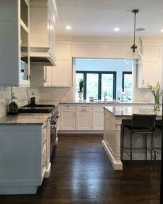 Kitchen Flooring. Wood flooring in House Wood floor is red oak with Jacobean…
