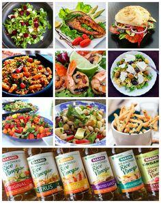 Healthy Food Swaps + 10 Low Calorie, Low Fat Salad Dressings. #sp @nakanosplash  daringgourmet.com