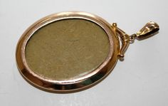 Antique Edwardian 9ct Gold Photo Picture Pendant (c1900s) - no chain FREE SHIPPING by GillardAndMay on Etsy