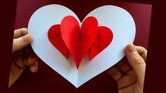 Pop Up Card: Heart ❤ Easy Pop Up Card Tutorial - YouTube