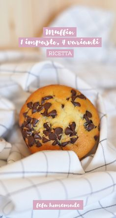 Un solo impasto, per realizzare i classici #muffin in almeno quattro varianti diverse! #fefahomemade