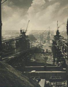 Site of Harbour Bridge Ca.1926 Harold Cazneaux National Library of Australia