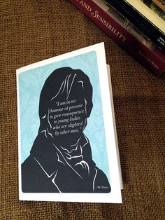 Jane Austen Mini Notebook Mr Darcy Quote Notebook by 10cameliaway