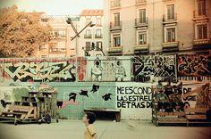 Street football. El Campo de Cebada. Madrid.