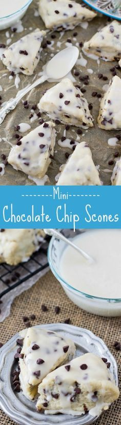 Mini Chocolate Chip Scones -- these are my FAVORITE!