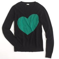 J Crew heart sweater Navy blue.  Super cute! J. Crew Sweaters