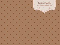 Polca Dots Pattern { Brown }  http://prettypoodle.blogspot.jp/2010/10/dot-autumn-color.html